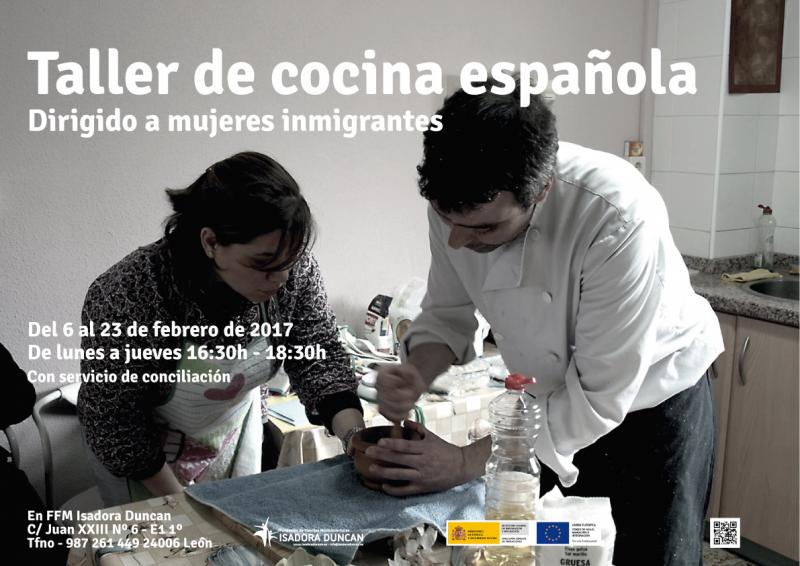 Isadora Duncan pone en miarcha un nuevo taller de cocina española dirigido a mujeres inmgrantes