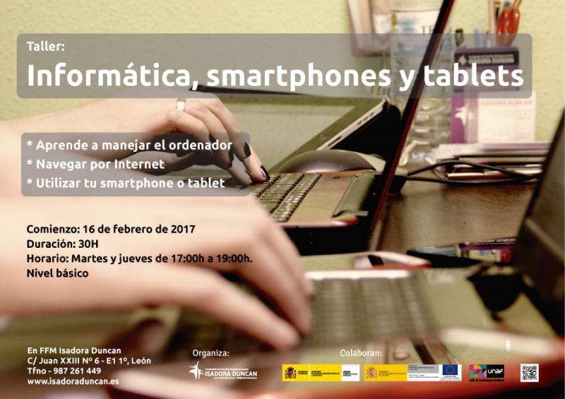 Taller de informática, smartphones y tablets en Isadora Duncan