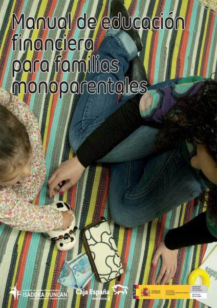 Portada manual de educación finaciera para familias monoparentales
