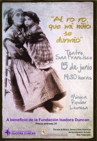 AL ro ro, que mi niño se durmió, concierto benéfico a favor de la FFM Isadora Duncan