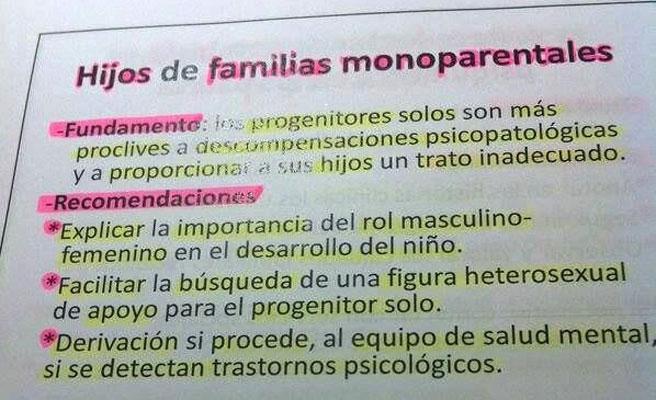 Apuntes contra familias mooparentales