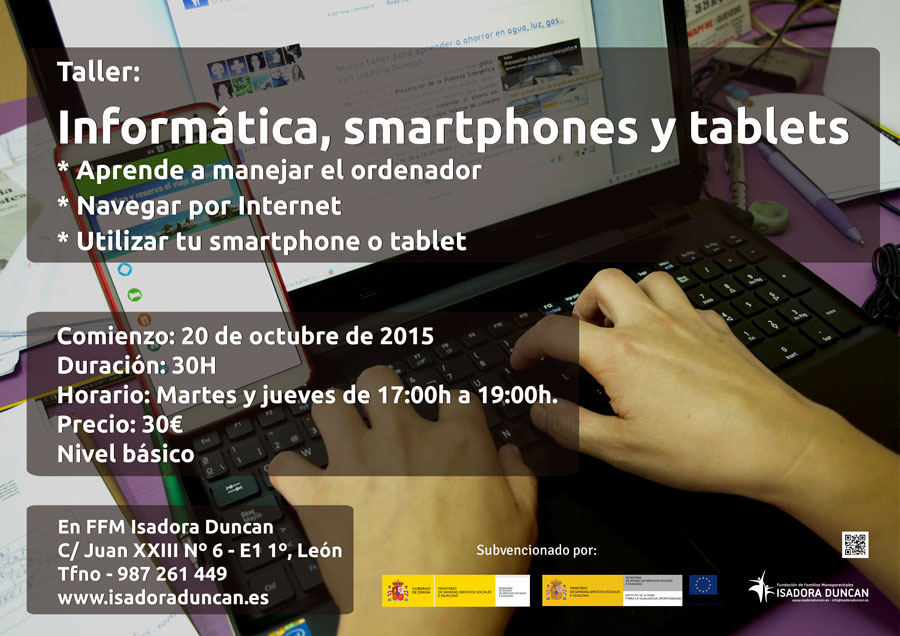 Taller de informática, smartphone y tablet