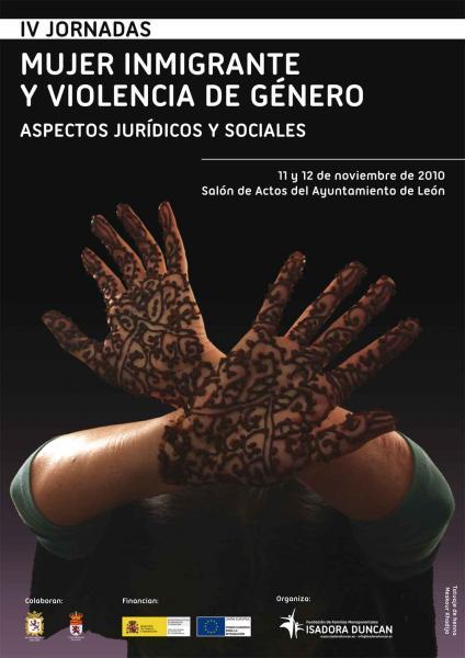 """Cartel IV jornadas """"Mujer inmigrante y violencia de género"""""""