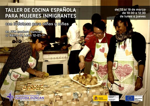 Taller de cocina española para mujeres inmigrantes