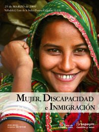 """Cartel de la jornada """"Mujer, discapacidad e inmigración"""""""