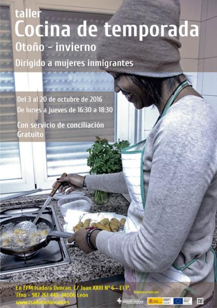 Cocina temporada otoño-invierno mujeres inmigrantes