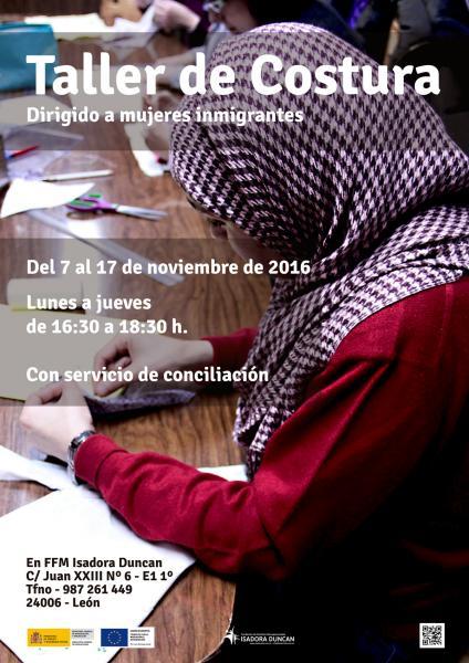 Taller de costura dirigido a mujeres inmigrantes