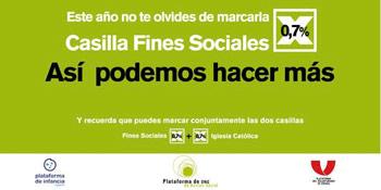 campaña por la casilla fines sociales