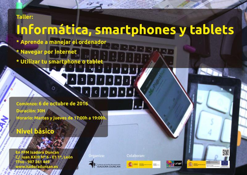 informática, smartphones y tablets en Isadora Duncan