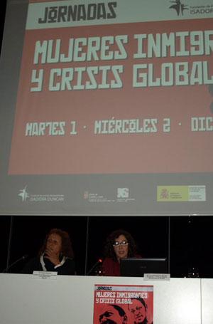 Jornadas mujeres inmigrantes y crisis global