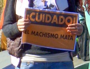 pancarta el machismo mata
