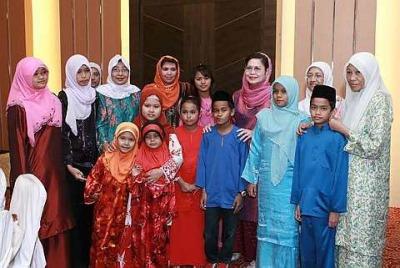 madres e hijos de malasia