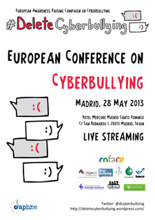 European Conference on Cyberbullying, 28 May Madrid