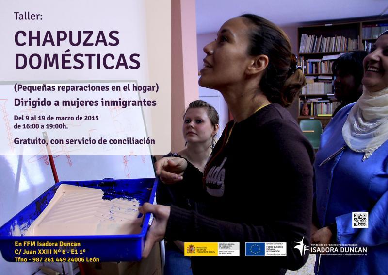 Taller de chapuzas domésticas dirigido a mujerees inmigrantes