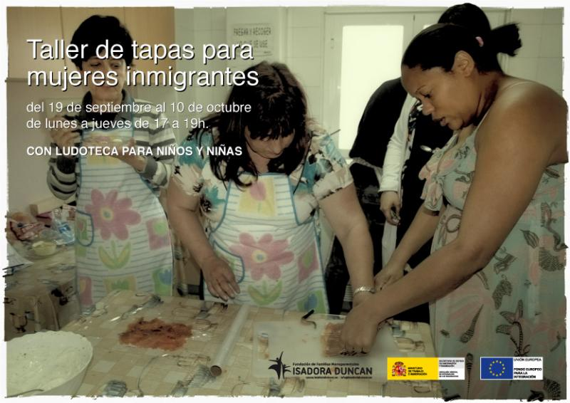 Taller de tapas para mujeres inmigrantes