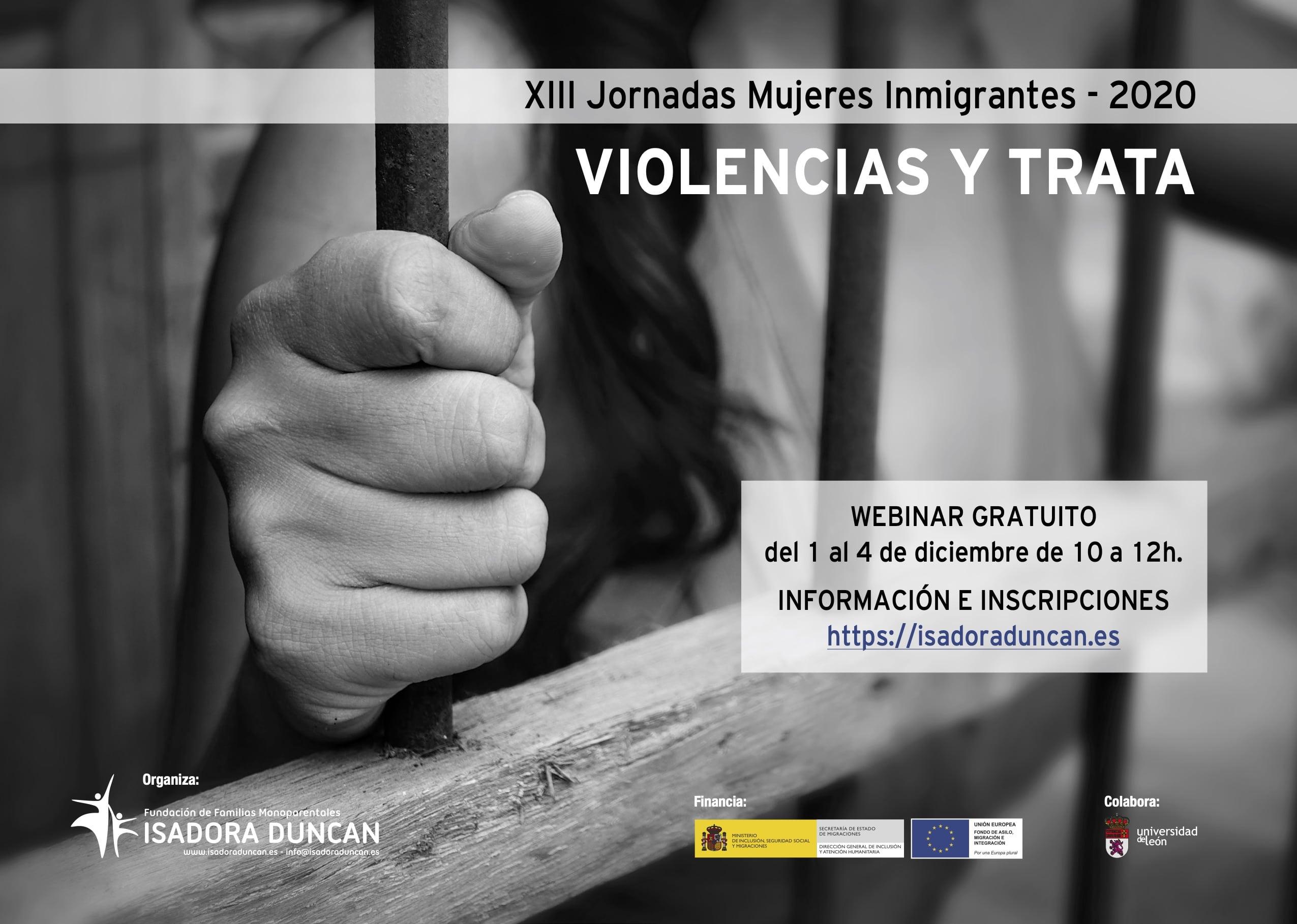 XIII Jornadas Mujeres Inmigrantes. Violencias y trata